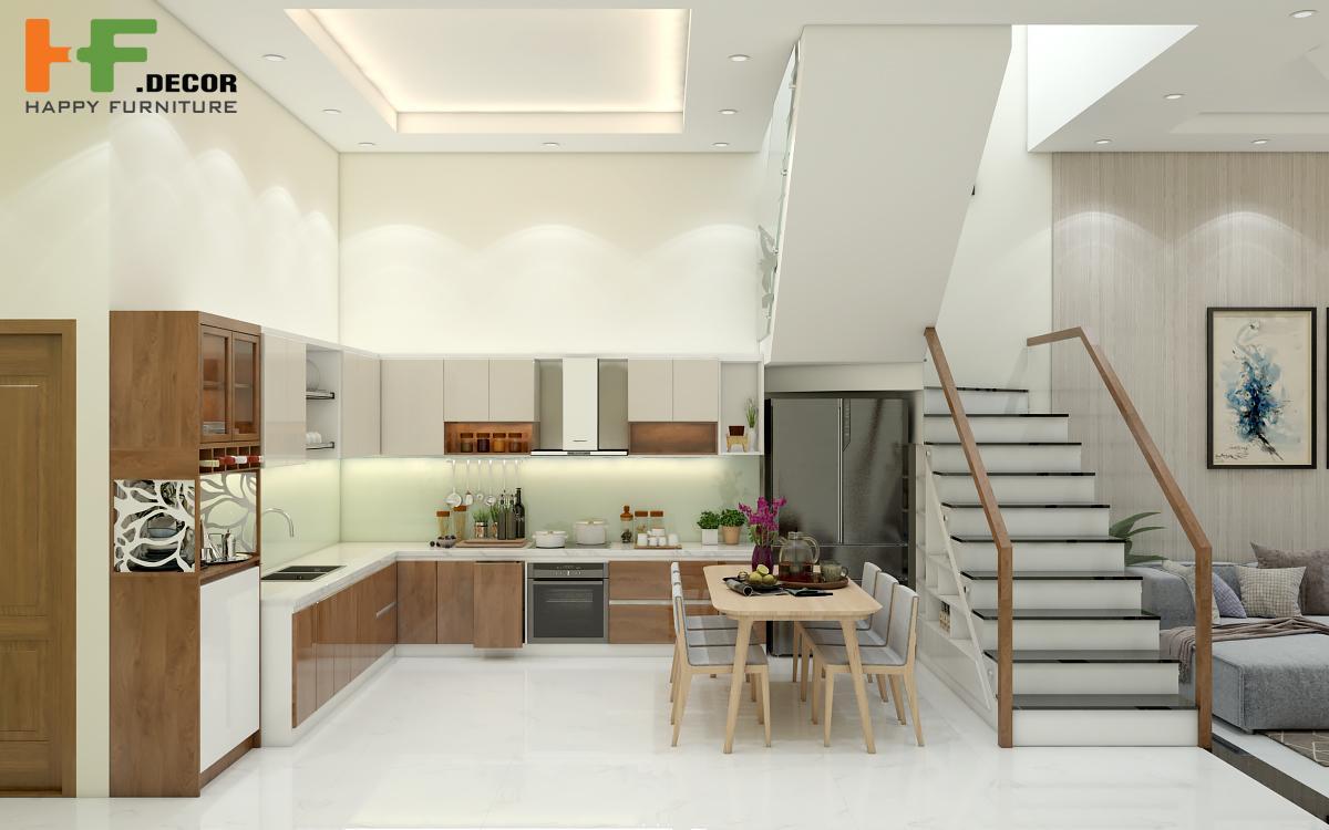 Gian bếp chính là nơi vun vén tình cảm của các thành viên trong gia đình vì thế nó đóng vai trò quan trọng không thể thiếu