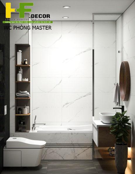 Nội thất nhà vệ sinh đẹp, tiện nghi và hiện đại sẽ giúp bạn giảm căng thẳng, mệt mỏi sau một ngày làm việc