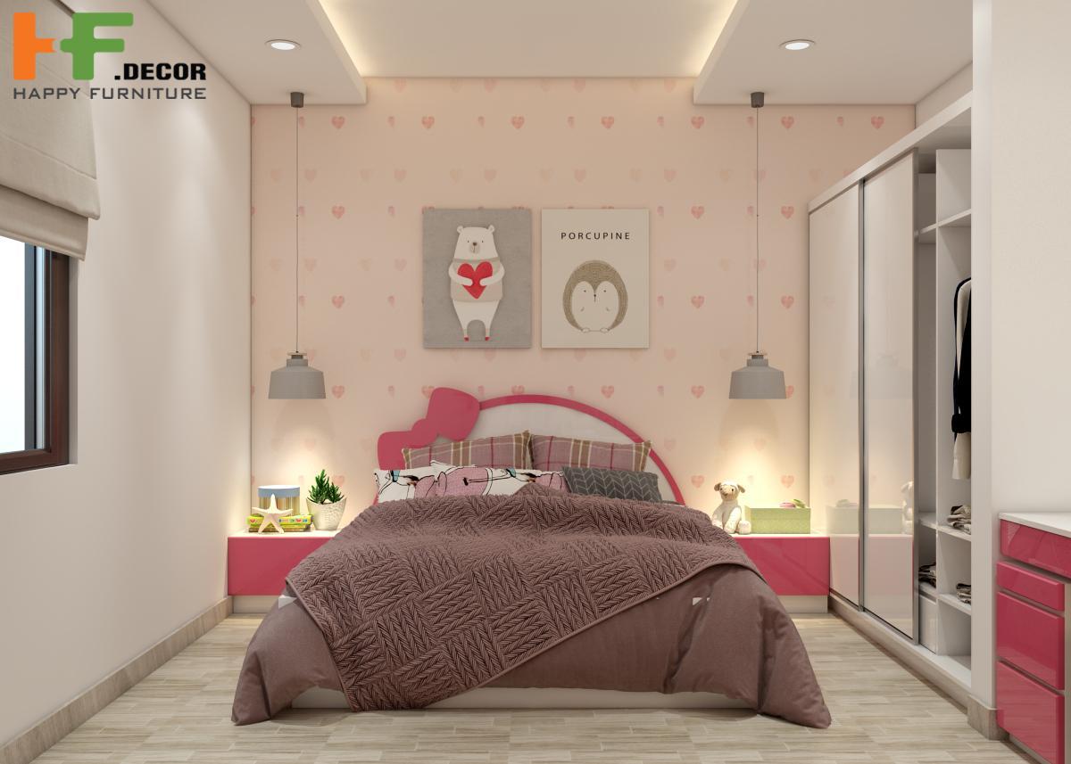 Thiết kế nội thất phòng ngủ tại HF Decor Quảng Ngãi mang đến không gian sống tiện nghi, thoải mái nhất