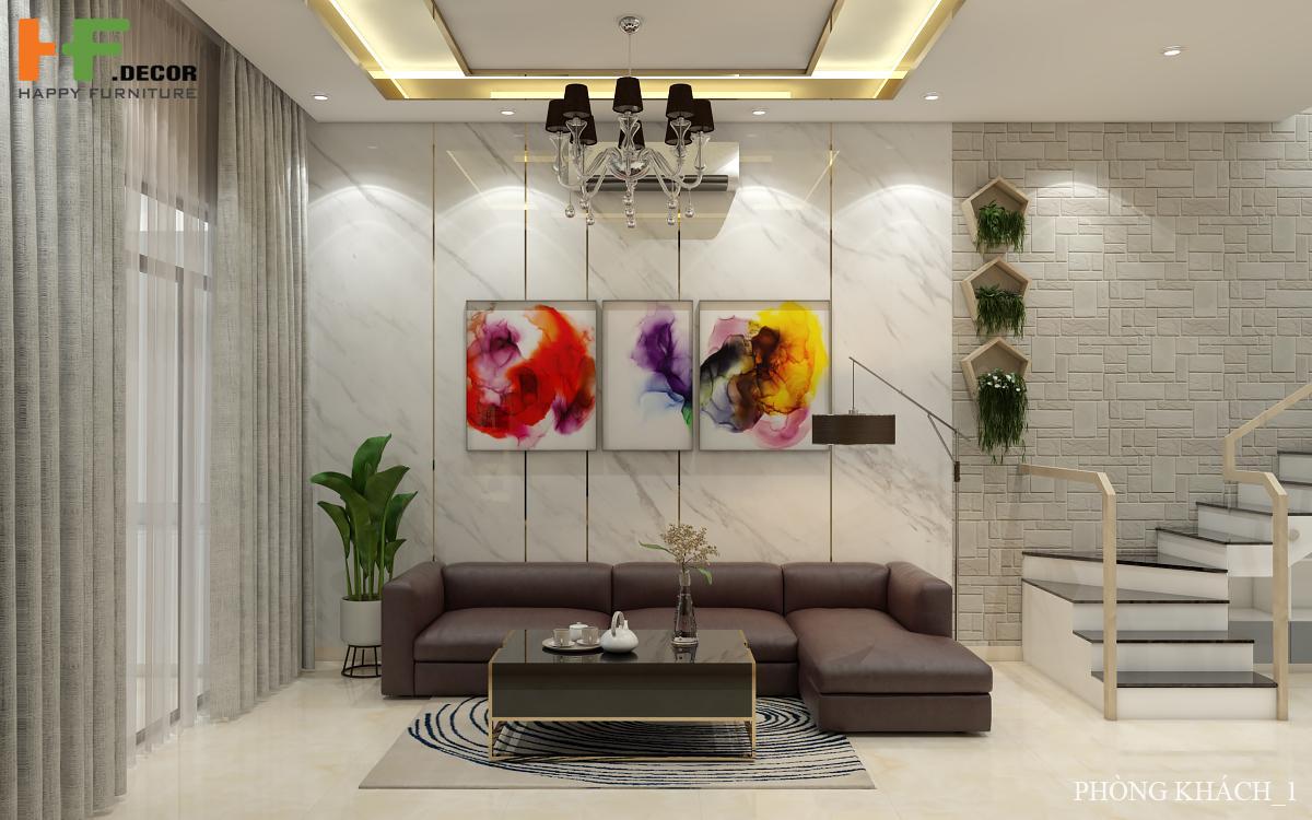 Phòng khách chính là không gian cốt lõi của ngôi nhà