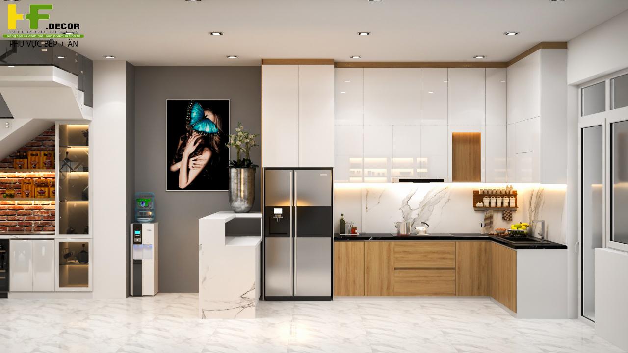 Nên quan tâm đến kiểu dáng, màu sắc và kích thước của tủ bếp